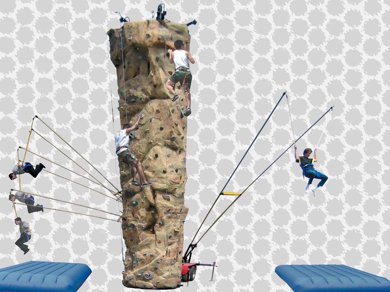 Combo Climbing Walls | Rock Climbing & Jumper System