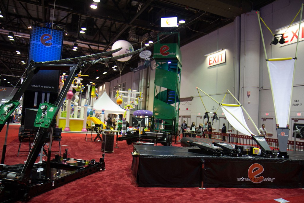 Extreme Enginering Mobile Zipline at IAAPA ASIA