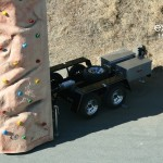 Portable climbing wall, mobile rock climbing wall