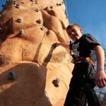 Portable climbing wall, mobile rock climbing wall