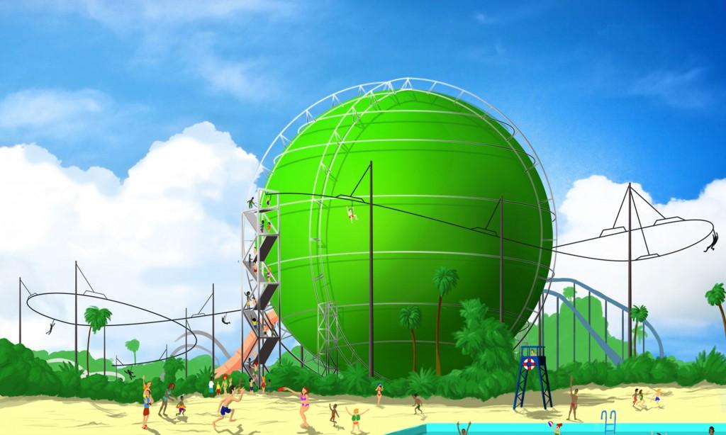 Cartoon Network Zip Line Roller Coaster