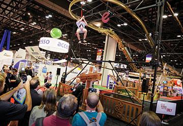 Zipline Roller Coaster Ride IAAPA Demo